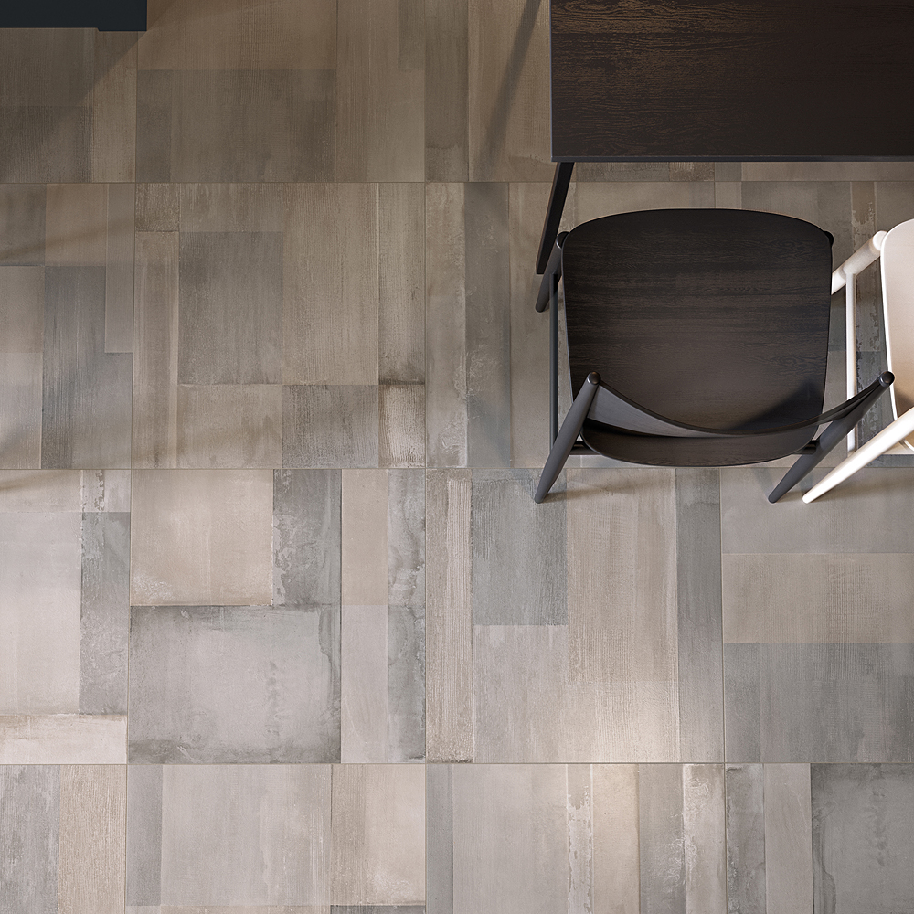 Supergres carnaby porcelain tiles ss tile and stone toronto room scene ue carnaby greige dining room dailygadgetfo Choice Image