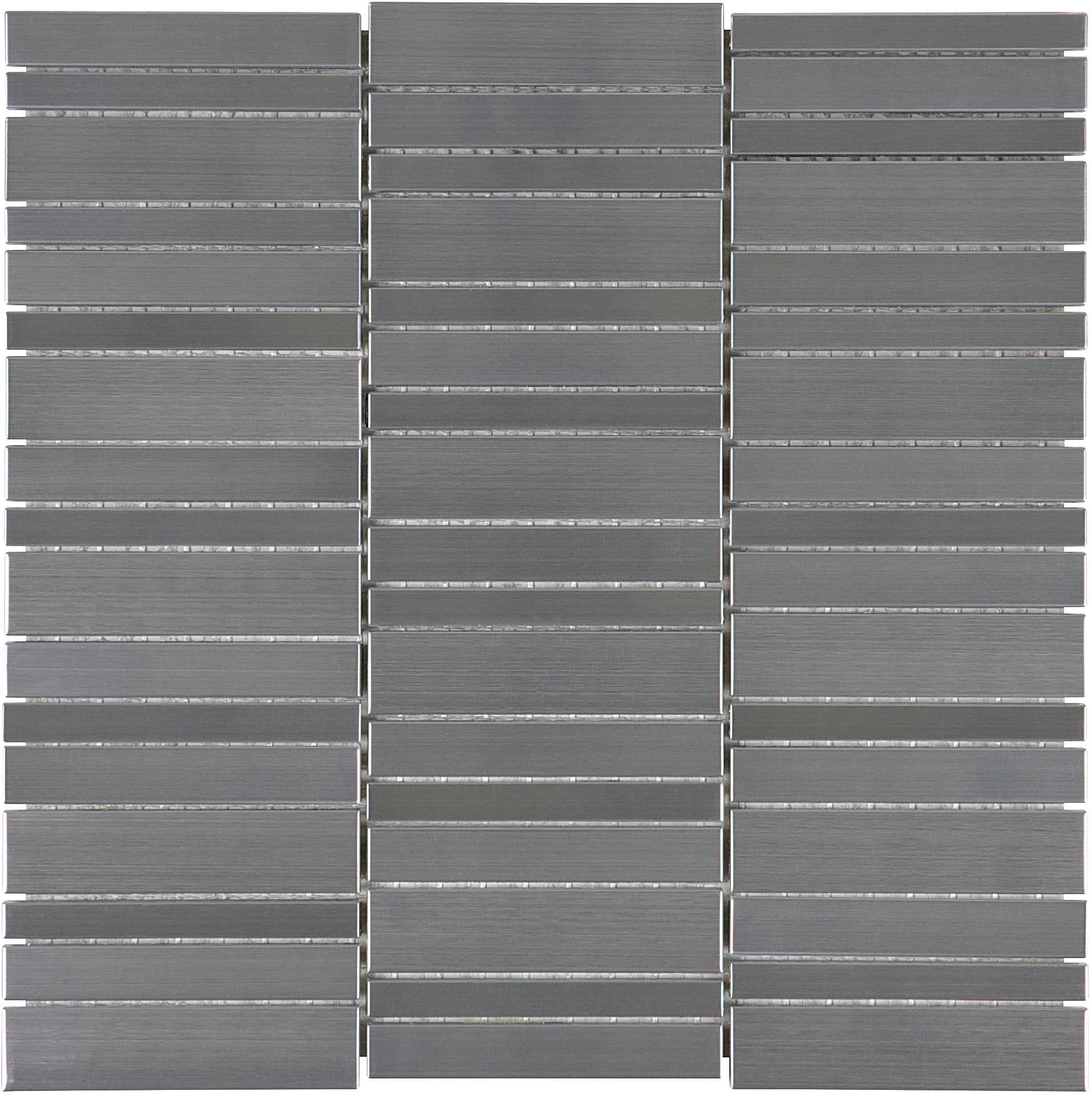 Random Stacked Stainless Mosaic Tiles